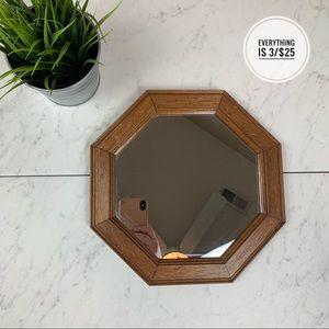 Wooden Framed Octagon Shaped Mirror